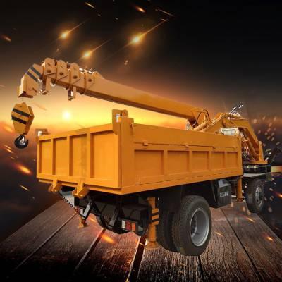 白事吊挖一体机 挖抓装载一体随车挖 救援专用吊挖四不像