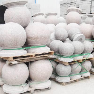 大理石隔离墩直径60厘米价格,芝麻灰挡车球尺寸