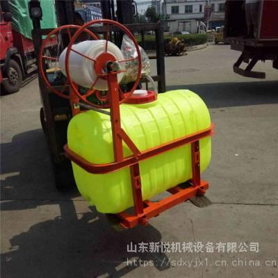 新悦 四轮后置悬挂式打药机 农用折叠喷杆打药机 宽幅农田喷雾机