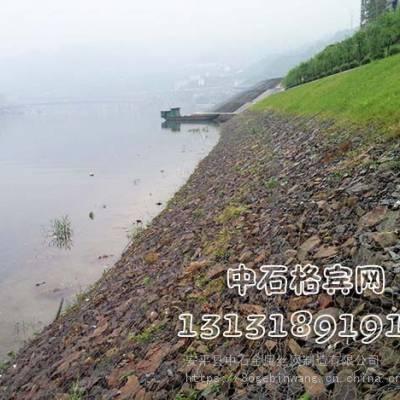 河堤防护格宾网挡墙,镀锌包PVC格宾笼护岸施工