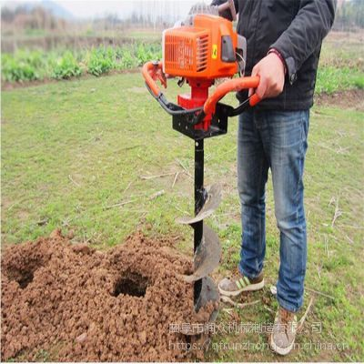 小型挖坑机 手提打洞机 各类土质打孔机润众