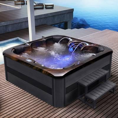 江苏南京奕华卫浴新款2.15米按摩SPA冲浪泡池亚克力独立式浴缸 大型 别墅
