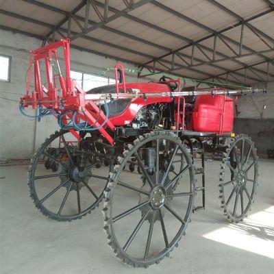 自走式四轮农田打药机价格 农用打药机厂家 可办理农村补贴玉米打药机