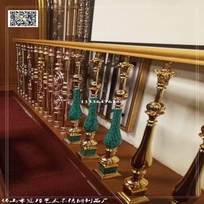 广东不锈钢电梯扶手镀色-香港不锈钢栏杆订做-湖南不锈钢管镀金
