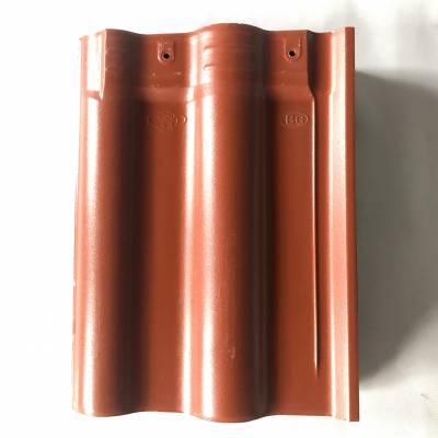 铁红色陶瓷连锁瓦/工程屋面瓦/蓝色陶瓷防水瓦