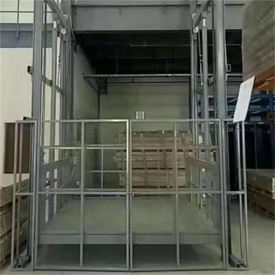 航天 导轨式升降机 南阳工厂载货升降机 2吨电动货梯 小型运货平台 价格合理