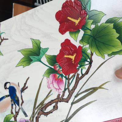 供应瓷砖陶瓷精雕客厅背景墙是怎么做出来的彩色平板打印机更清晰