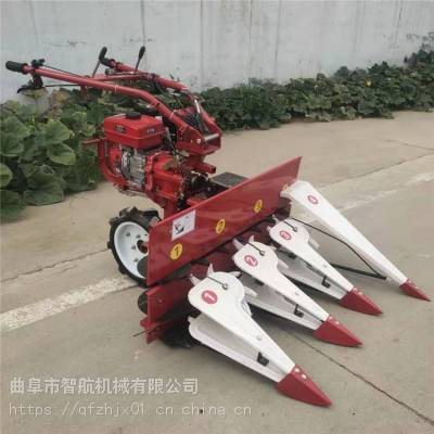 智航牌辣椒收割机参数 手扶带的稻麦割晒机 柴油汽油动力收割机厂家