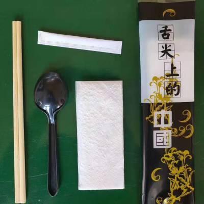浙江海航可定制环保餐具包装机一次性竹筷子四件套餐具包装机 环保套装PLA可降解餐具刀叉勺包装机