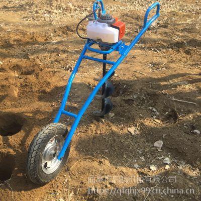 山区硬土地挖坑机 500大直径汽油钻窝机 启航手提钻坑机价格