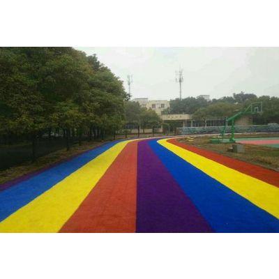 广东德朝厂家直销 彩色防滑路面材料 透气塑胶跑道 复合型跑道 环保塑胶球场跑道材料生产厂家