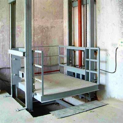 大同市导轨升降货梯 定做导轨式升降机 仓库货梯