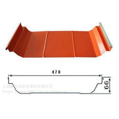 台州彩钢厂家供应YX66-470型咬口型屋面板