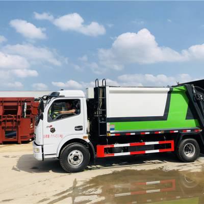 国六多利卡小型垃圾车 后装挂桶压缩车 随州压缩垃圾车报价