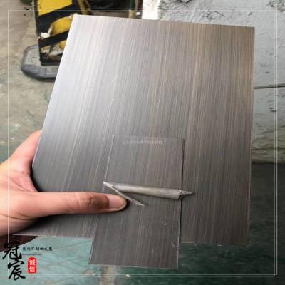 佛山批发不锈钢镀铜彩色板 201不锈钢红古铜 304青古铜做旧发黑板