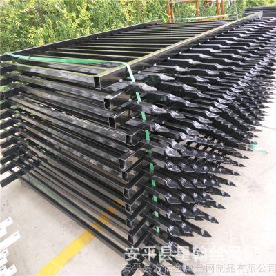 厂家直销小区居民楼厂区锌钢铁艺组装方管喷塑蓝白灰黑绿围墙围栏