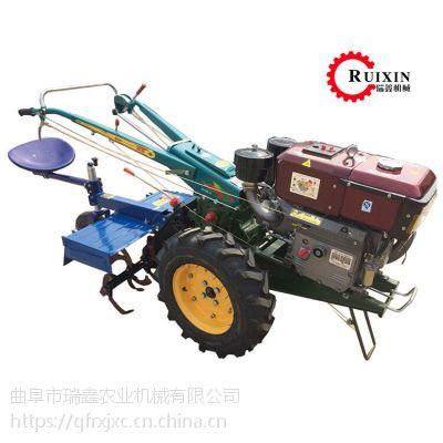 瑞鑫大马力农用手扶拖拉机 手扶除草犁地机 15马力柴油旋耕机价格