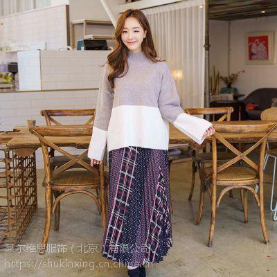 丝辉印月品牌服装货批发 杭州高端女装折扣批发尾货绿色雪纺衫