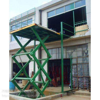 漯河厂家导轨式升降机 上货货梯 货物提升机国胜机械 重质量守信用