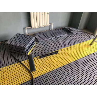 3公分4s店网格地板拼接塑料排水地面网格板品牌华庆