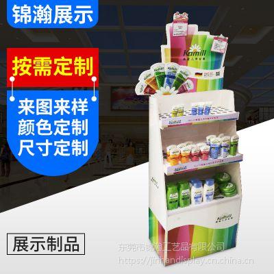 安迪板展示架定做工厂 雪弗板制作护肤品展架和日化品展架的厂商