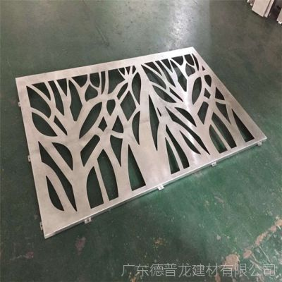 售楼中心大堂屏风镂空雕花铝单板 铝板雕花厂家