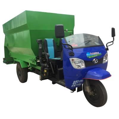 全自动化喂牛用饲料喂料车 牲口到点喂料用撒料车 省养牛成本饲料喂料车