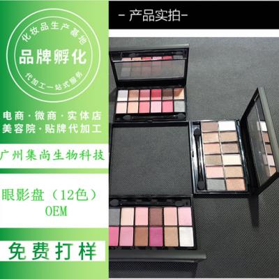 广州化妆品工厂OEM生产眼影(12色眼影盘)