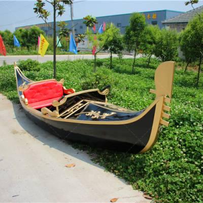 船厂定制7米山西朔州威尼斯贡多拉 戴氏木船定制景区威尼斯贡多拉