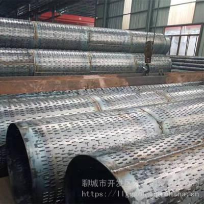 南京打井降水井用钢管325mm基坑打井过滤钢管/透水钢管