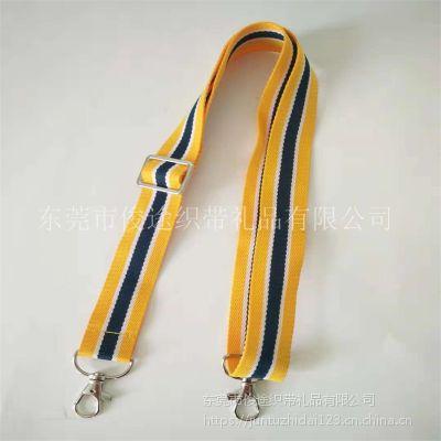 间色涤纶带厂家直销银色调节扣的双狗扣背带做儿童乐器背带用