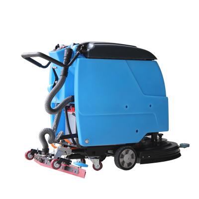 鼎洁盛世手推式洗地机工厂车间商用多功能地面清洗刷地机电瓶式擦地机