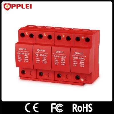 三相一级开关型电源防雷器PB100-385 B+C/4 10-350波形 总配电的浪涌保护器