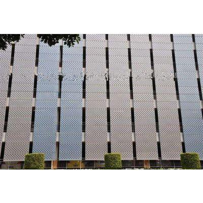 商铺造型镂空铝单板定制