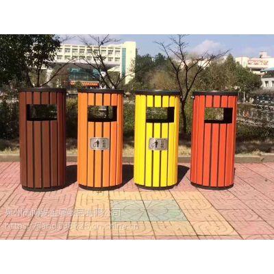 广告环保分类垃圾桶 钢木垃圾桶 厂家直销园林学校户外分类垃圾桶
