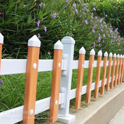 仿木草池围栏 仿木草坪护栏 新农村护栏厂家