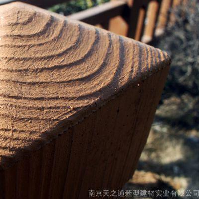 景区河道仿木护栏水泥栏杆厂家南京天之道景观护栏价格优惠