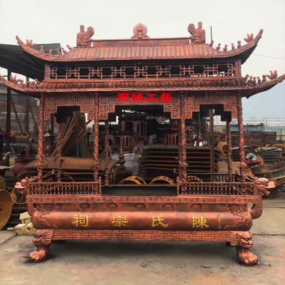 厂家直销祖堂祖祠大型铸铁香炉/陵园公墓铁香炉设计