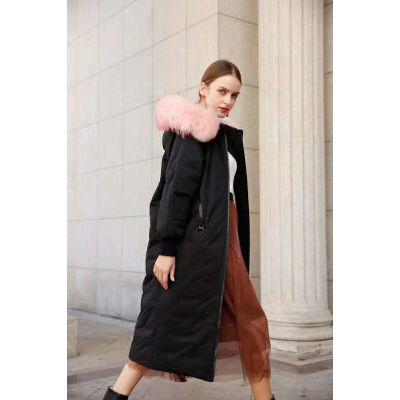 品牌折扣批发女装白鸭绒大毛领羽绒服经济实惠款式多