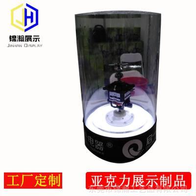 启一品牌电器展台亚克力有机玻璃板材展架东莞锦瀚工厂定制展示架