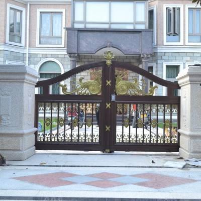 杭州防爆铸铝门别墅大门防腐木门庭院门院门电动装置加盟