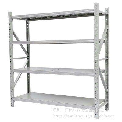 厂家低价促销标准四层仓库货架储物架、家居轻型小货架2米长度可调节货架