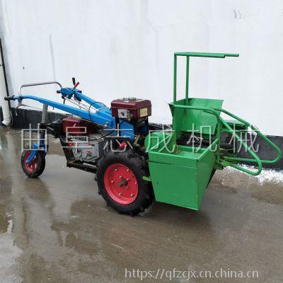 柴油动力单垄玉米收获机 电启动柴油动力苞米收获机 玉米秸秆粉碎还田机
