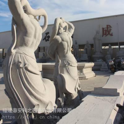 镇江活佛济公石雕像 大型八仙过海石雕刻价格哼哈二将雕像