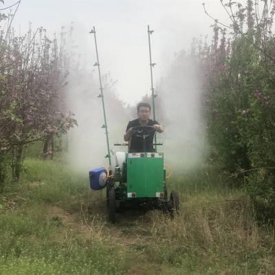 蔬菜农田宽喷副汽油打药机 果园四轮四驱打药机 自走式多喷头打药机厂家