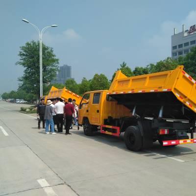 江铃双排座侧卸式自卸垃圾车哪有厂家直销点