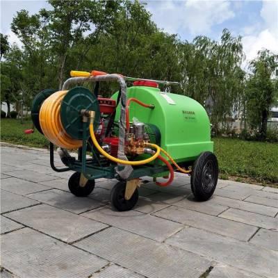农用大棚蔬菜喷药机 高效率推车式喷药机 果园拉管式打药机视频