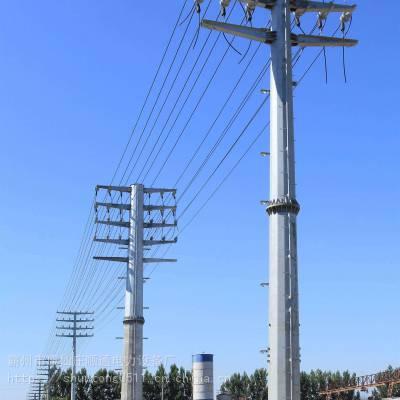 河北省35kv直线钢管杆报价 66kv转角钢管塔型号 顺通电力设备厂
