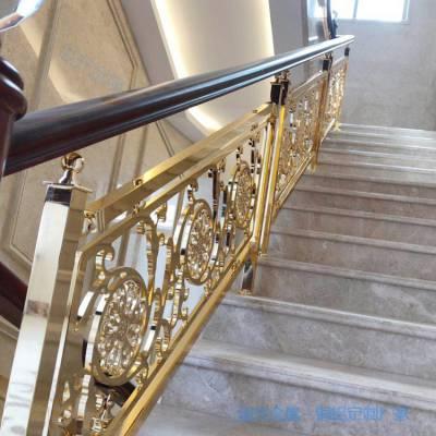 武威旋转铜楼梯立柱***案例