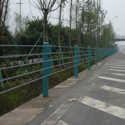 缆索护栏中柱、贵州遵义114圆管防撞柱、钢丝绳绳索安全防撞